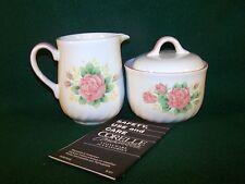 Corning / Corelle ~ Elegant Rose ~ Sugar Bowl With Lid & Creamer Set  ***NEW***