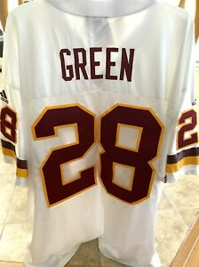 Darrell Green Redskins 1999 2000 2001 authentic Adidas white stitched #28 jersey