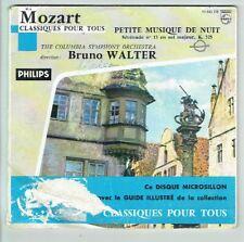 MOZART Vinyl 45T Livre PETITE MUSIQUE NUIT Discothèque Classique Tous PHILIPS