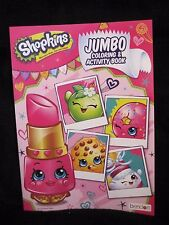Shopkins Jumbo Coloring and Activity Book Tear and Share Pages NEW FS 8x11 inch