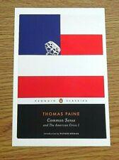 PENGUIN BOOK COVER POSTCARD ~ COMMON SENSE & THE AMERICAN CRISIS - THOMAS PAINE