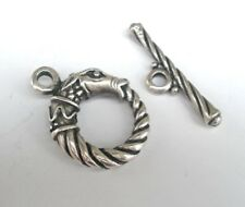 European Pewter Horse Head Toggle Clasp 20mm 3 Sets