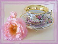 e2) farbenfrohe SAMMELTASSE Für die Hausfrau Blütendekor Krister Waldenburg ALT
