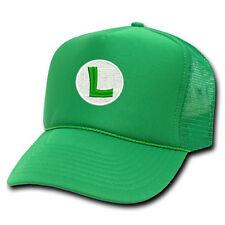 SUPER MARIO LUIGI L LOGO EMBROIDERED GREEN MESH SNAPBACK CAP HAT bbd88ec5c874