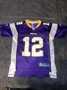 Youth Reebok NFL Minnesota Vikings Percy Harvin 12 Football Jersey Size M