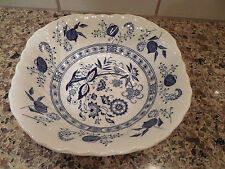 "Blue Nordic Johnson Brothers Ironstone Square 6"" Cereal Bowl Made in England"