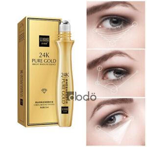 SENANA 24K Gold Bright Eyes Roll-on Serum Remove Dark Circles AntiAging Eye Care
