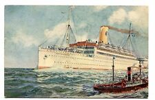 Vintage Postcard Cruise Line SWEDISH AMERICAN LINE ship TS DROTTNINGHOLM