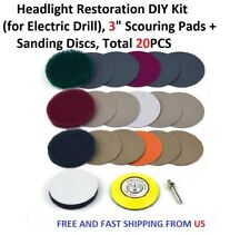 3 inch Headlight Restoration DIY Kit (for Electric Drill), Total 20PCS