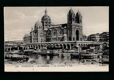 France MARSEILLE La Cathedrale river scene barges LL Louis Levy c1900/10s? PPC