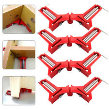 4X 90 Degree Right Angle Clip Fixing Picture Frame Corner Clamp Woodworking Tool