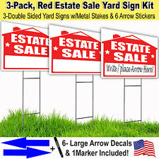 3 Pack, ESTATE SALE Lawn Sign Kit