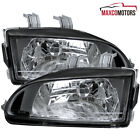 Black For 1992-1995 Civic Eg Ej Replacement Headlights Lamps Leftright 92-95