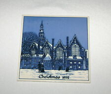 Delft 1972 Christmas Tile The Old Church Amsterdam Holland