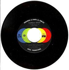 """7"""" - CAMILO SESTO - EL AMOR  DE MI VIDA (SPANISH PROMO EDIT. 1978) USADO VG+"""