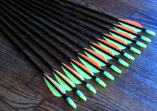 "12 Shiny Black ® Fiberglass Target Practice Arrows 34"""