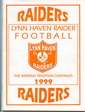 Lynn Haven Florida - 1999 - Raiders - Mighty Mite Football Booklet - Nice Cond