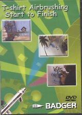 Badger T-SHIRT AIRBRUSHING START TO FINISH DVD BD-107 AIRBRUSH