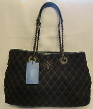 SimplyVera by Vera Wang Dark Green Large Quilted Tote Bag Style Purse Free Ship