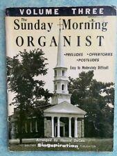 Sunday Morning Organist Vol 3 Organ Singspiration Harold DeCou Sheet Music