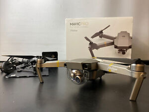DJI Mavic Pro Platinum Drone Fly More Combo with 4K HD Recording - FAULTY
