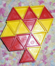 Game replacement pieces triangles plastic red and yellow Devil's Triangle parts