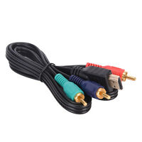 US 5Ft HDMI To 3-RCA Video Audio AV Component Converter Adapter Cable For HDTV X