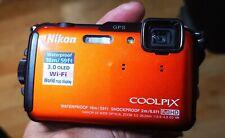 Nikon COOLPIX AW110 Camera 16MP Camera - Orange  Waterproof