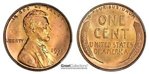 1931-D Lincoln Cent PCGS MS-65+ RD CAC #390 *PCGS Pop 1 & NGC 1