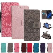 Embossed Slim Flip Stand Wallet Phone Case Protective Cover For Samsung Galaxy