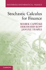 Stochastic Calculus For Finance (mastering Mathematical Finance): By Marek Ca...