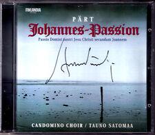Arvo Pärt SIGNED Johannes-Passion Jorma Hynninen ARROW Lehtipuu Tauno satomaa CD