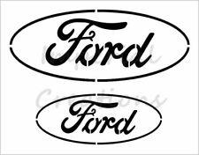 """""""FORD"""" Car Truck Auto Logo 8.5"""" x 11"""" Stencil 20 Mil Plastic Sheet NEW S399"""