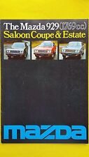 Mazda 929 Saloon Coupe Estate brochure catalogue February 1978 SUPERB RARE