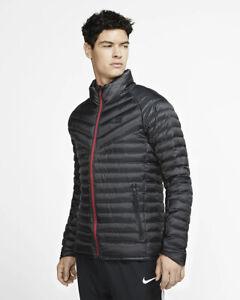 As Roma Nike Daunenjacke Padded Winterjacke Jacket Authentic CL Schwarz