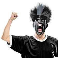 Oakland Raiders Fuzz Head Wig NFL Pro Football Sports Game Day Costume Accessory