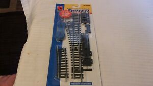 HO Scale Life-Like Code 100 Nickel Silver #4 Left Hand Switch with Remote #8611