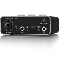 Behringer U-PHORIA UM2 Audiophile 2x2 USB Audio Interface & Mic PreAmp