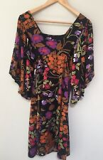 Boho floral dress / tunic - size M (fits a 10 or 12  best)