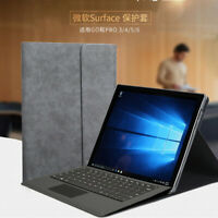 Protective Folding Folio Cases for Surface Pro4 Pro5 Pro6 Leather Stand Cover