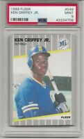 1989 FLEER #548 KEN GRIFFEY JR. ROOKIE, PSA 9 MINT, HOF, MARINERS, L@@K !