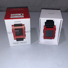 Pebble Smart Watch - Red Face