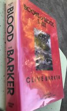 Books of Blood Vols. I-III by Clive Barker 1986  HC DJ.2nd Print. Signed stamped
