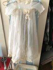 Antique Infant Victorian Lacey Baptism/Christing 2 Piece Dress Or Doll Cloths