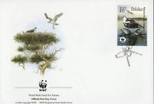 WWF  UCCELLI  FDC POLONIA BUSTA PRIMO GIORNO 2003 FALCHI 4/4