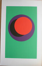 CLAISSE Geneviève Sérigraphie signée abstrait géométrique op art 1967 cercles