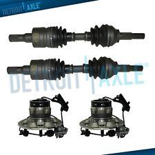 Front CV Axle Drive Shafts Wheel Hub & Bearing Set for 04-08 4WD Colorado Canyon