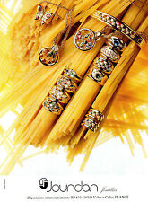 Publicité 2000  JOURDAN bijoux collier bague bracelet collection joaillier