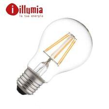LAMPADINE LED E27 7W 2700K BULBO FILAMENTO ZAFFIRO ILLUMIA GLASS LUCE CALDA