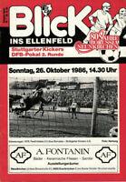 DFB-Pokal 86/87 Borussia Neunkirchen - Stuttgarter Kickers, 26.10.1986